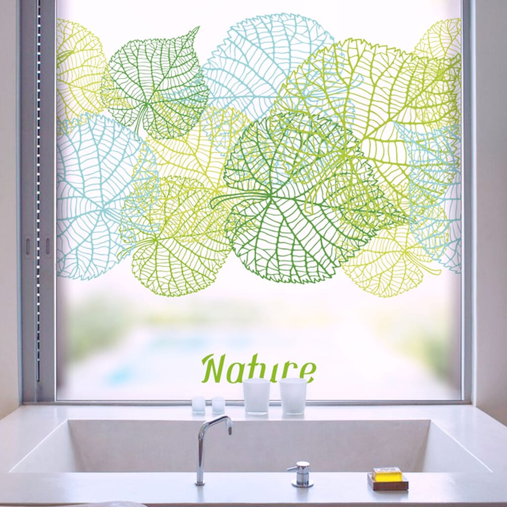 Printed frosted film applied on house window glass chennai