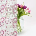 pink geometric pattern glass sticker in chennai