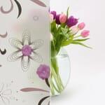 purple floral glass film in chennai